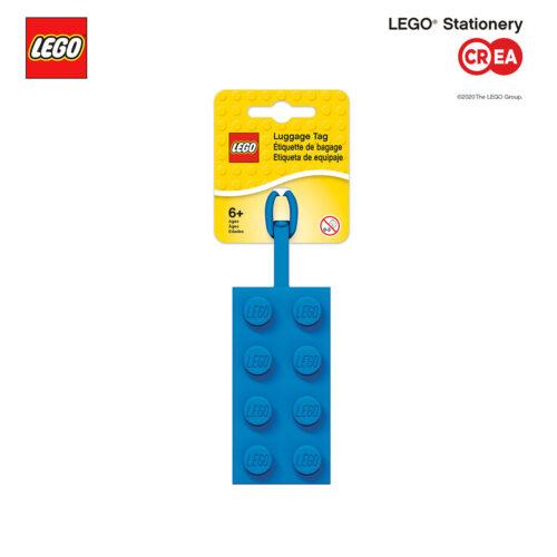 Tag Silicone Blu - retro segnanome - h 10 cm