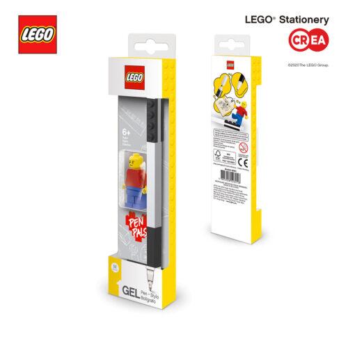 Gel Pen - 1 Nero + Minifigure