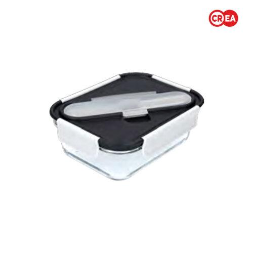 BUILT - Portapranzo Vetro 900ml + Posate Inox