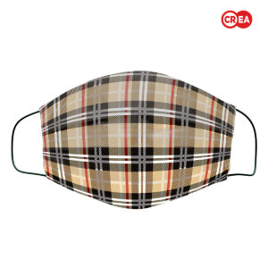 MFAD - MASCHERINA TARTAN -BEIGE SCOTTISH