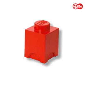 LEGO - Storage Brick 1 Quadr. Rosso