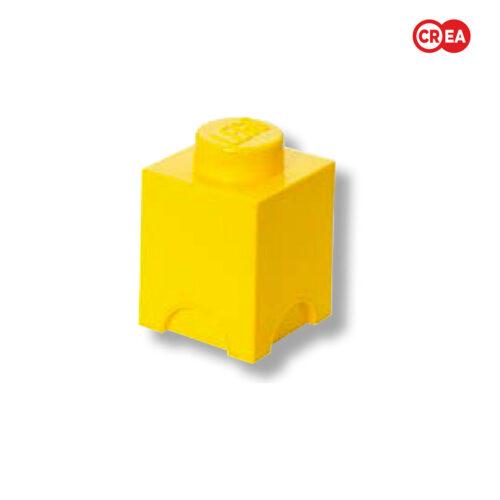 LEGO - Storage Brick 1 Quadr. Giallo