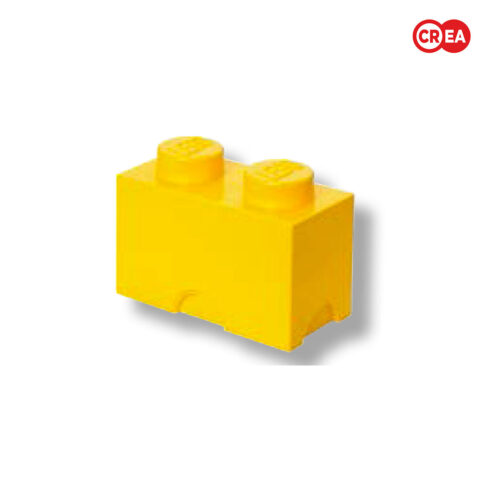 LEGO - Storage Brick 2 - Giallo